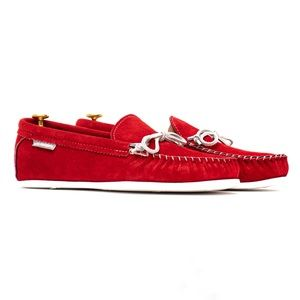 NWT KFG Moccasins - Red Suede - Made in USA